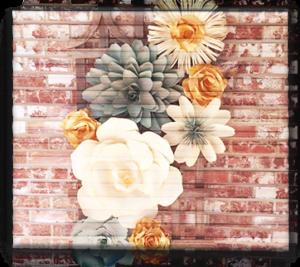 Панно из бумажных цветов