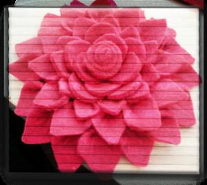 Панно цветы из фетра