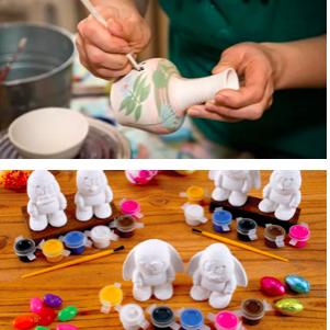 Роспись глиняных заготовок