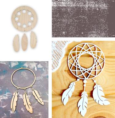 Ловец снов – декор деревянной заготовки